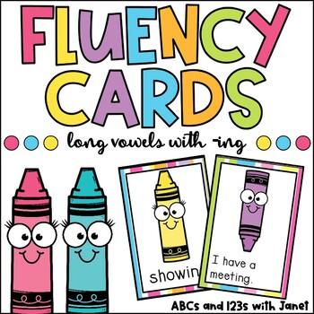 Fluency Cards {long vowel patterns, -ing}