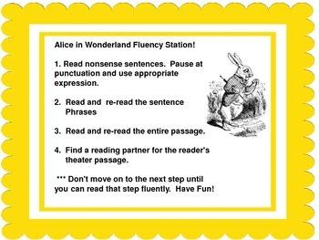 Fluency Center:  Alice in Wonderland