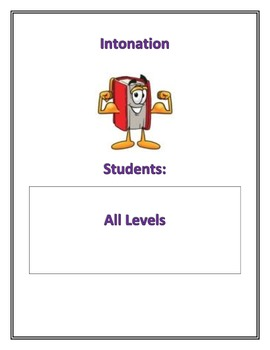 Fluency Center Posters: Intonation