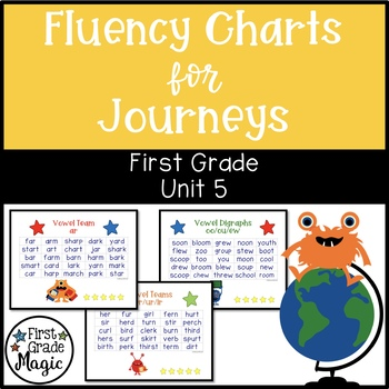 Fluency Charts Journeys Unit 5 First Grade