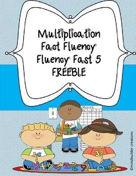 Fluency Fast 5 - Multiplication Fluency Freebie!