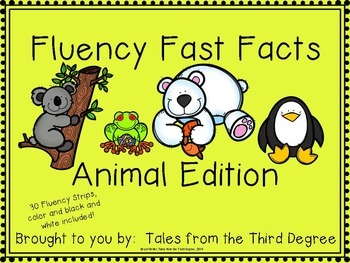 Reading Fluency Fast Facts Animal Edition