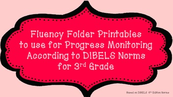 3rd Fluency Folder for Progress Monitoring According to DI