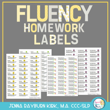 Fluency Homework Labels
