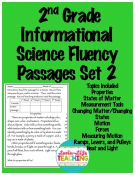 Fluency Passages 2nd Grade Informational Science Set 2- Fo