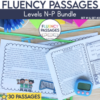 Fluency Passages 3rd Grade Bundle: Set 1 and 2 {Level N-P}