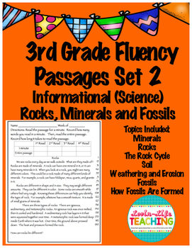 Fluency Passages- 3rd Grade Science- Rocks, Minerals, and