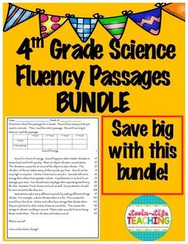 Fluency Passages 4th Grade Science BUNDLE- Informational w