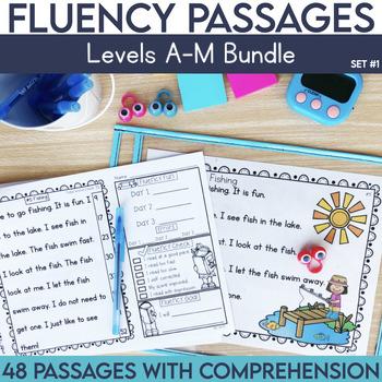 Fluency Passages: Set 1 Bundle- Kindergarten, 1st & 2nd Gr