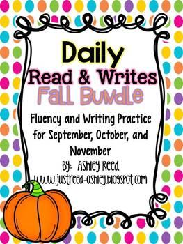 Fluency Passages- Fall Read and Writes Bundle