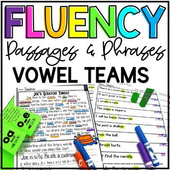 Fluency Passages & Phrases {Long Vowels, Vowel Teams, 2nd