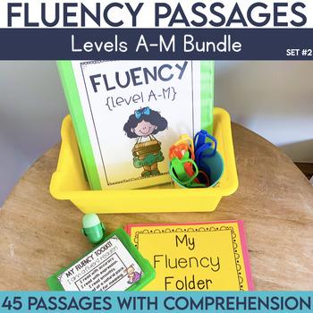 Fluency Passages: Set 2 Bundle- Kindergarten, 1st & 2nd Gr