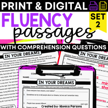 Fluency Passages for Upper Elementary Students - Set 2