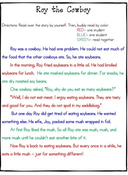 Fluency Passages with Comprehension Questions