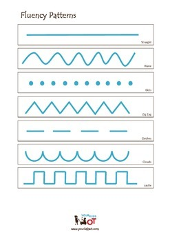 Fluency Patterns for pre-writing skills and pencil control.