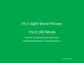 Fluency Phrases - Third 100 - Fry's Sight Words
