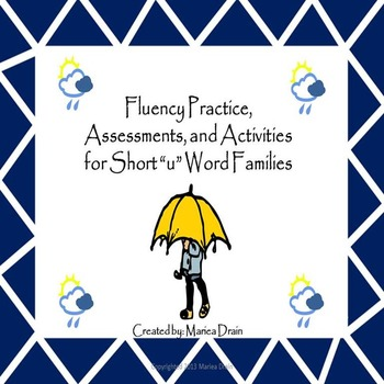 "Fluency Practice, Assessments, and Activities for Short ""u"