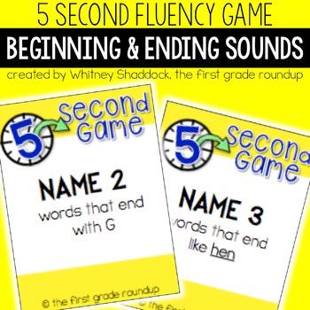 Fluency Practice Games: Beginning and Ending Consonants