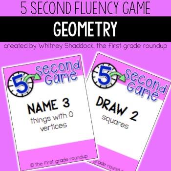 Fluency Practice Games: Geometry