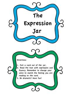 Fluency Practice Jar - 30 Emotion Cards