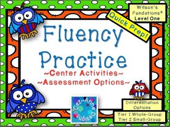 Fluency Practice ~ Level 1 Center Activities and Assessmen