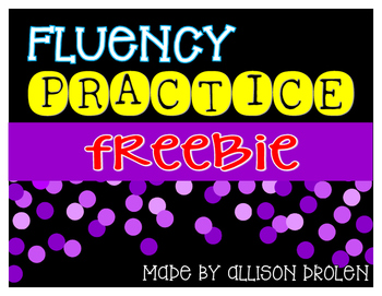 Fluency Progress Graph