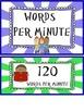 Fluency Reading Chart: Blue Border