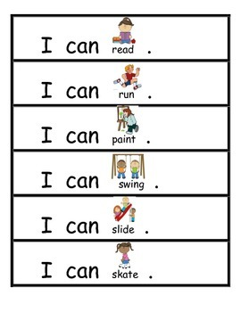 Sight Word Sentences: I Can