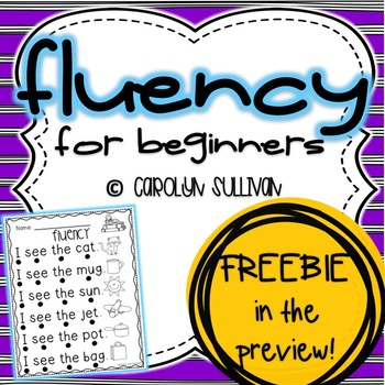Fluency Sentences for Beginning Readers ** FREEBIE IN PREVIEW**