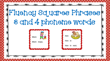 Fluency Squares - 3 and 4 phoneme word phrases