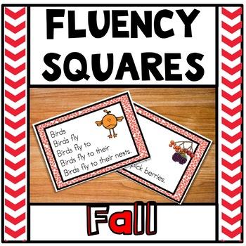 Fluency Squares Fall Autumn Edition RF.1.4
