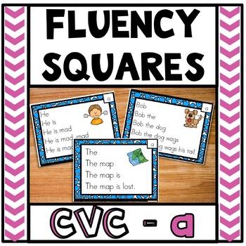 Fluency Squares Short A CVC words