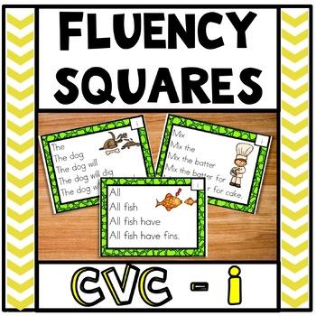 Fluency Squares Short I CVC words