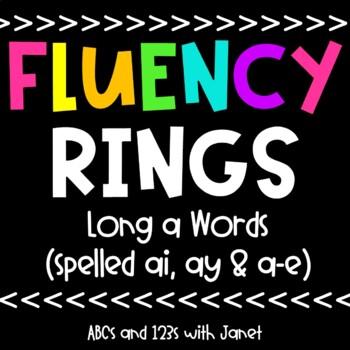 Fluency Rings {long a, spelled ai/ay}