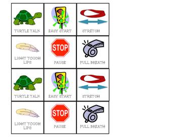 Fluency Stuttering Strategies Visual Cards