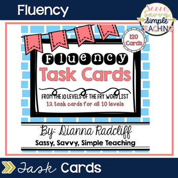 Fluency Task Cards {CCSS Aligned}