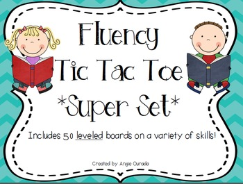 Fluency Tic Tac Toe Super Set {50 leveled boards}