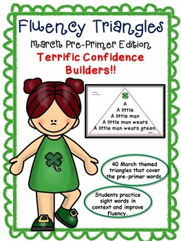 Reading Fluency Activity - Fluency Triangles® March Pre-Pr