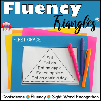Reading Fluency Activity - Fluency Triangles® for First Gr
