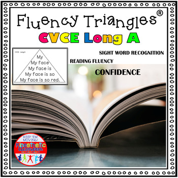 Reading Fluency Activity - Fluency Triangles ® for Long A