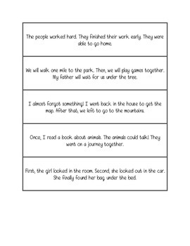 Fluency practice - three sentence phrases
