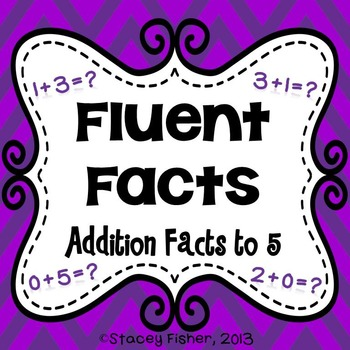 Fluent Facts-Practice for Addition and Subtraction Facts Within 5