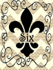 Fleur de Lis Chic Group/ Table Numbers 1-6 {Burlap & Black}