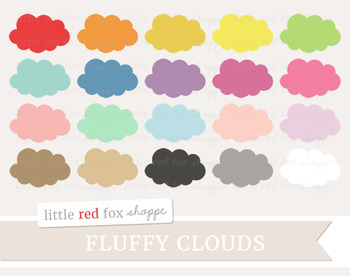 Fluffy Cloud Clipart; Weather