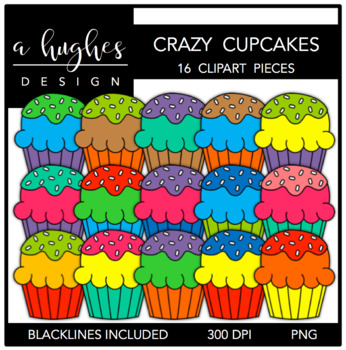 Fluffy Cupcakes Crazy {Graphics for Commercial Use}