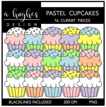Fluffy Cupcakes Pastel {Graphics for Commercial Use}