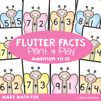 Flutter Facts - Math Print and Play Center Game