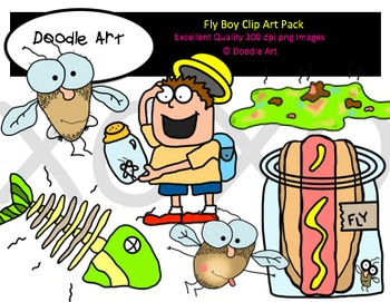 Fly Boy Clipart Pack