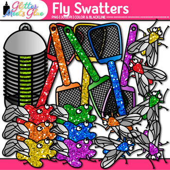 Fly Swatter Clip Art {Insect and Bug Graphics for Workshee