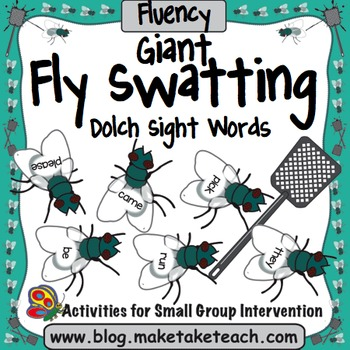 Sight Words - Fly Swatting Dolch Sight Words- Giant Flies